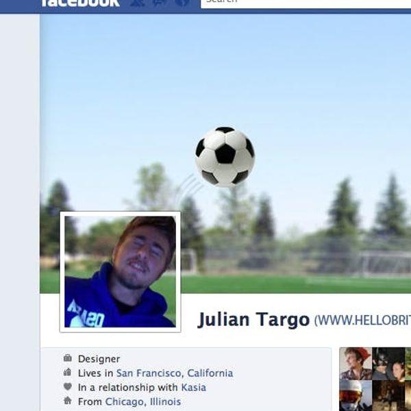 How To Hack Your Facebook Timeline Cover: Soccer Header