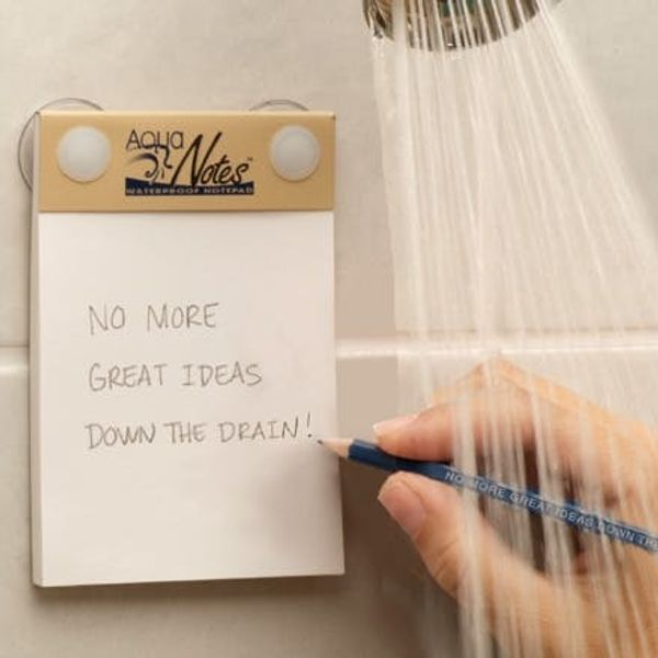 A Waterproof Notepad To Capture Creativity In The Shower
