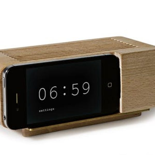 The Areaware Alarm Dock Turns Your iPhone Into an Old School Flip Clock