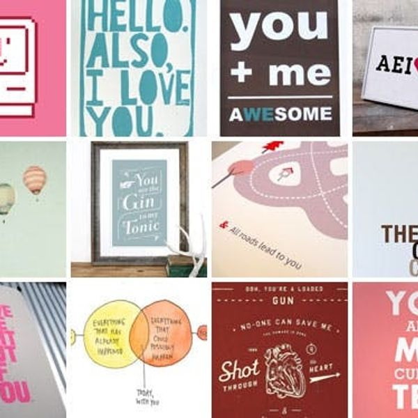 12 Love-ly Typographical Prints For Your Valentine