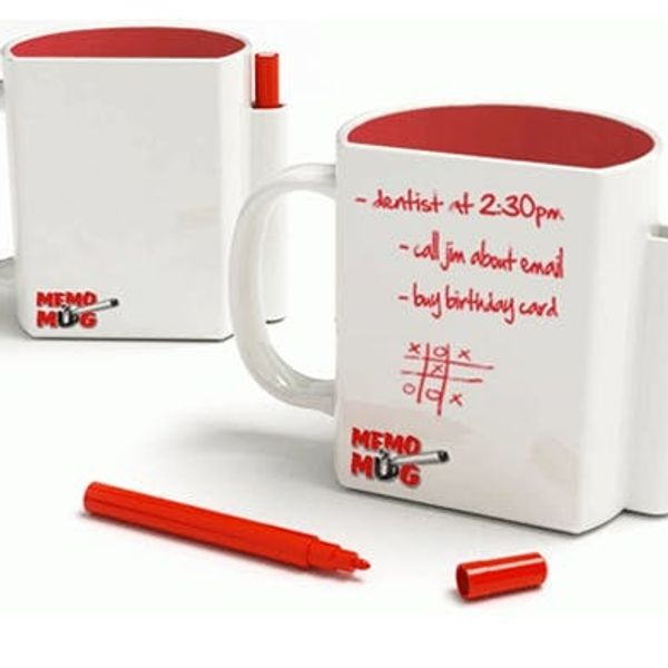 Use the MemoMug To Drink & Jot Notes At Once