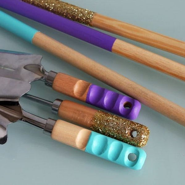 Brighten Up Your Mops, Brooms, and Gardening Tools