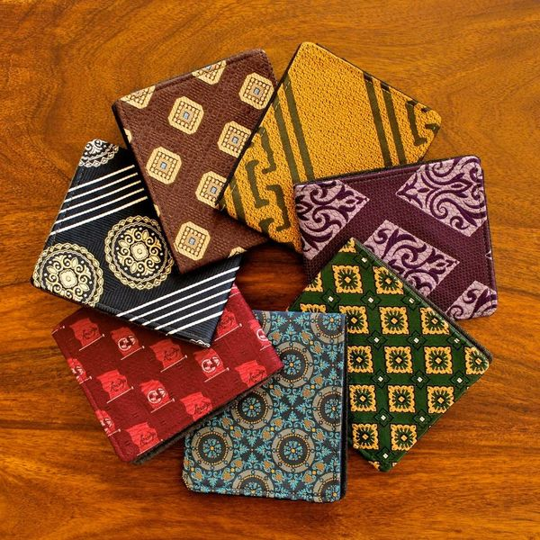 Guy Gift Alert! Dapper Wallets From Discarded Fabrics & Neckties