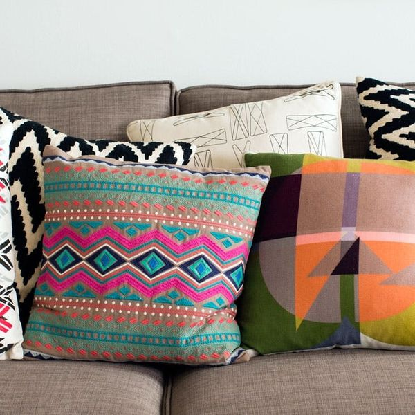Pattern Mixing FTW: 20 Pillows That Pop
