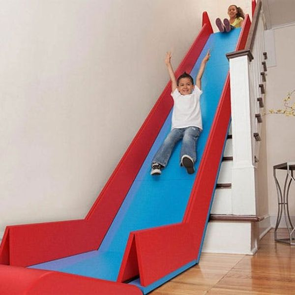 This Genius Invention Turns Your Stairs into a SLIDE!