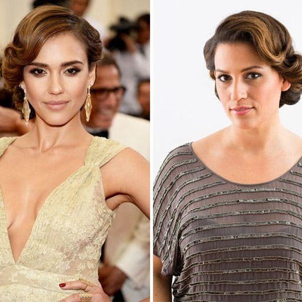 Get the Look: Jessica Alba's Glam Red Carpet Updo