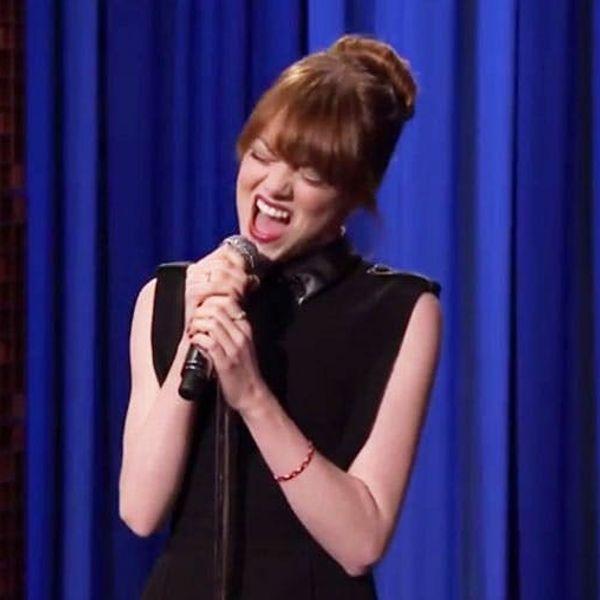 OMG! Watch Emma Stone School Jimmy Fallon in an Epic Lip Sync Battle
