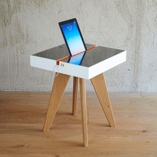 You Can Charge This Device-Charging Table with Sunlight AND Artificial Light