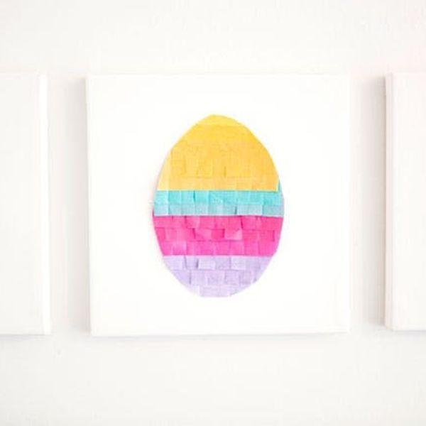 DIY Easter Decor: Tissue Paper Eggs