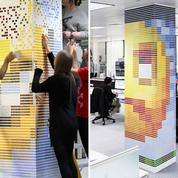 Made Us Look: Paper Emoticons Made With Over 21,000 Pantone Color Chips