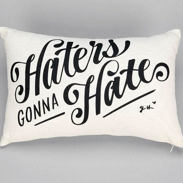 Put a Word On It! 18 Typographic Pillows