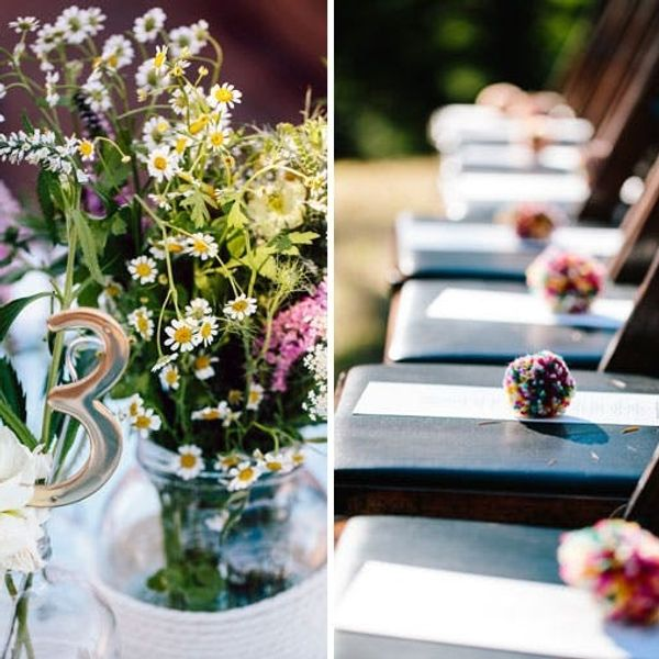 DIY Weddings: Tying the Knot Beneath 4,000 Pom Poms