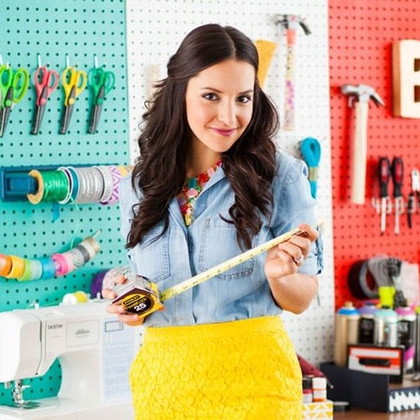Organize Your Creative Space with DIY Color Blocked Pegboards