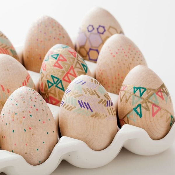 How to Make Wooden Easter Eggs… For Free!