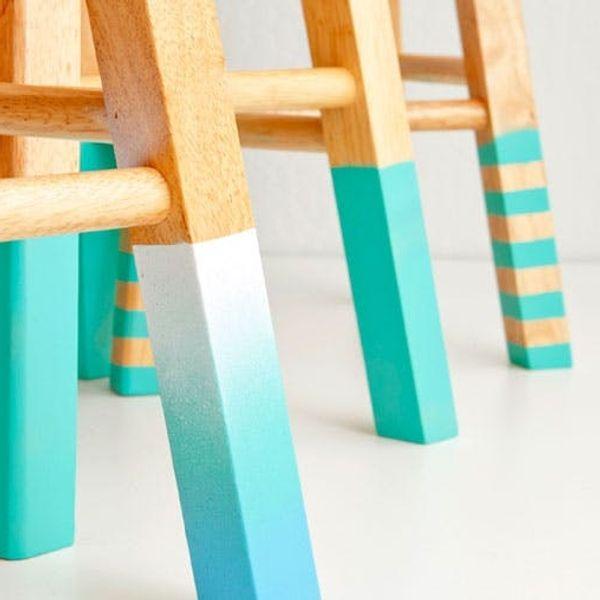 DIY Basics: 3 Ways to Make Color-Dipped Bar Stools