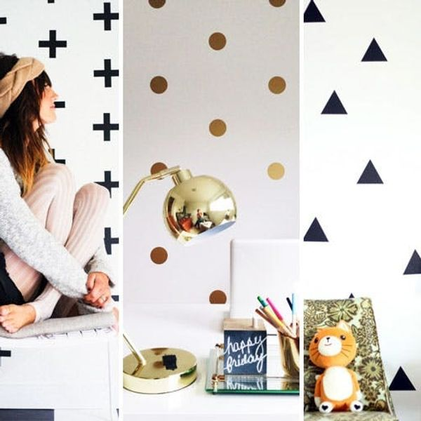 We're Crushing Hard on These Geometric Wall Decals