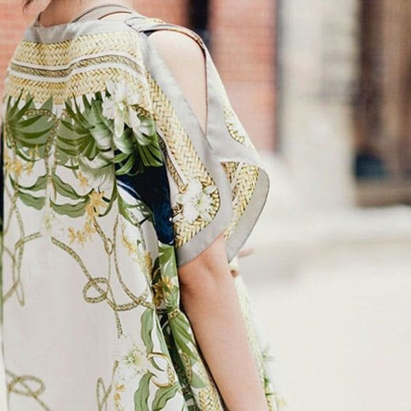 Genius! How to Turn 2 Silk Scarves into 1 Springy Caftan