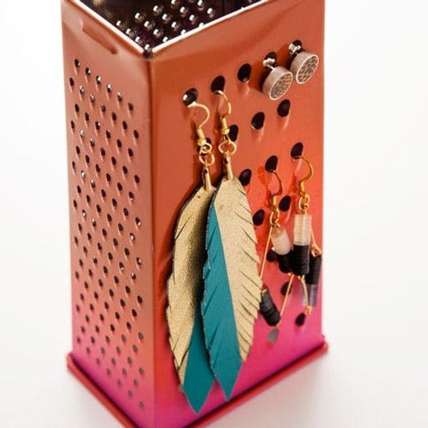5-Minute DIY: Turn a Cheese Grater Into an Earring Caddy