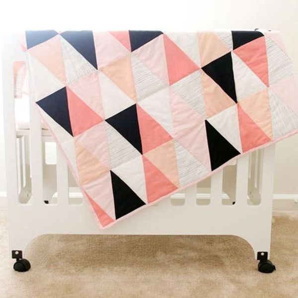 Quilting Remix: How to Make a Modern Ombre Triangle Quilt
