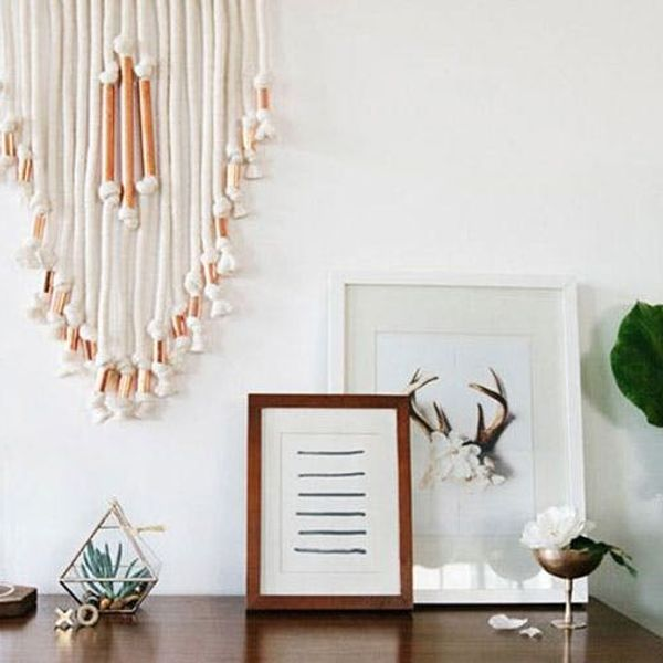 DIY Copper and Cotton Macrame Wall Hanging
