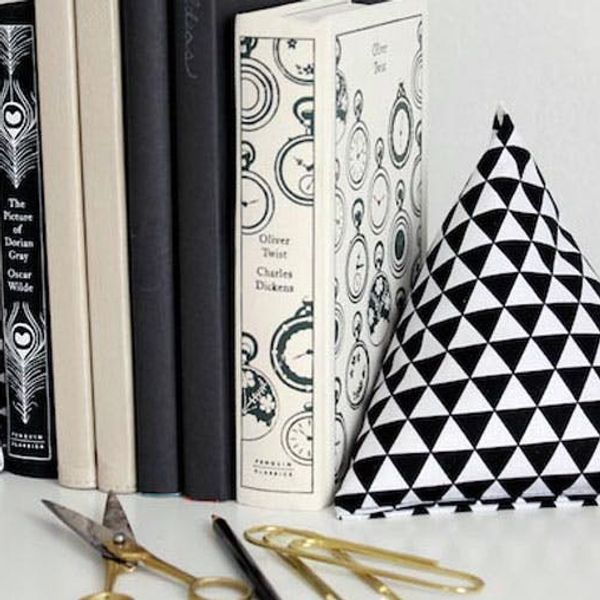 Feeling Bookish? Make These DIY Fabric Pyramid Bookends