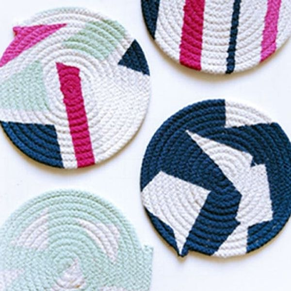 How to Turn Plain Old Rope into Colorful Coasters