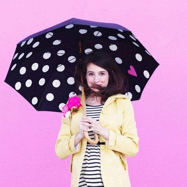 Beat the Rain with Pretty Polka Dot Umbrellas