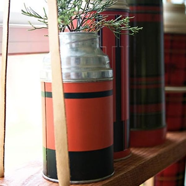 Shoutout: Hanging Vintage Thermos Display Shelf