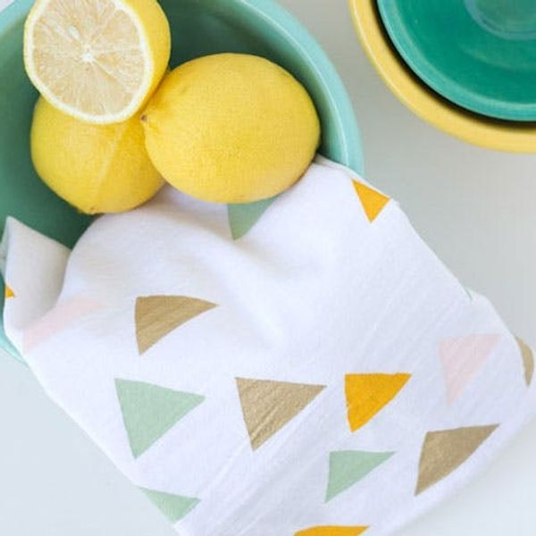 Shoutout: These Stenciled Tea Towels Make a Great Hostess Gift!