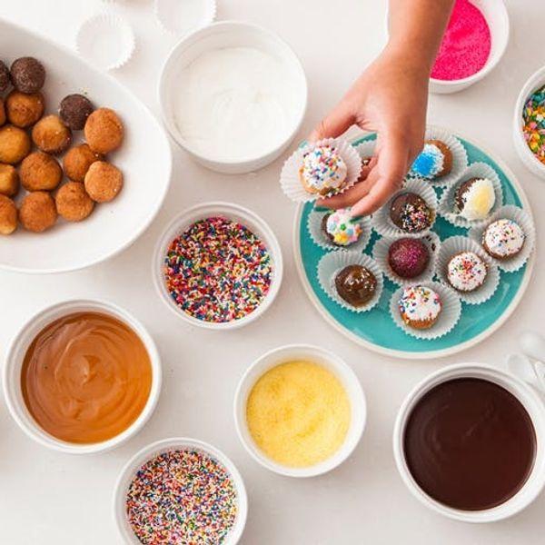 The Art of the Ramekin: How to Make a DIY Popcorn Bar, Donut Hole Bar, and Bruschetta Bar!