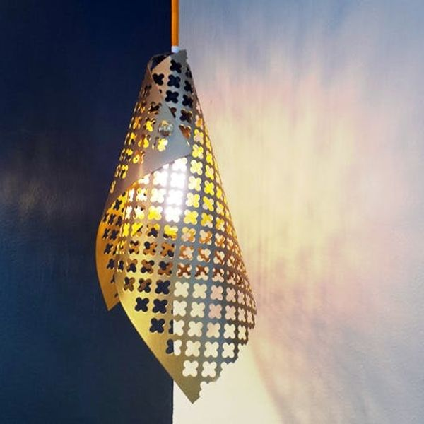 Shoutout: How to Make a Gold Perforated Pendant Lamp