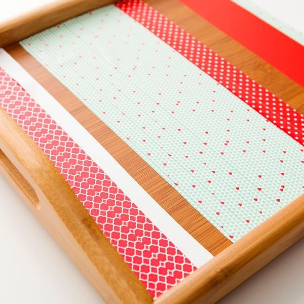 Washi for the Win: DIY Breakfast in Bed Tray in Under 5 Minutes!