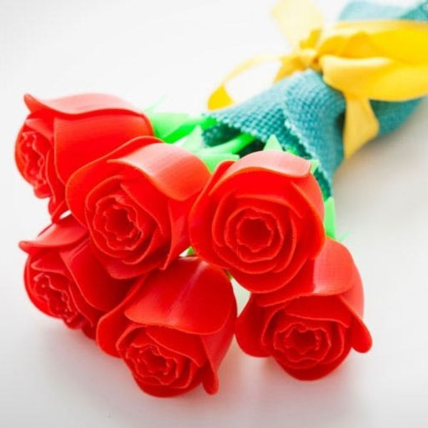 How to Make Your Own Never-Wilting 3D Printed Roses