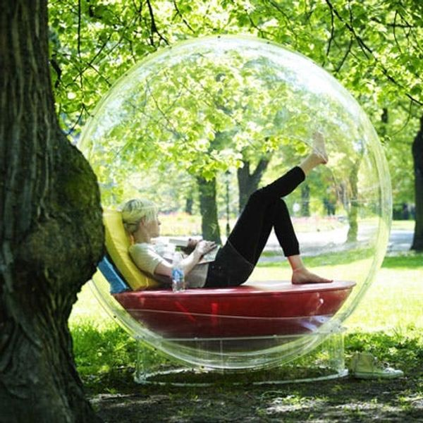 Made Us Look: A Bubble-Shaped Speaker You Can Step Into