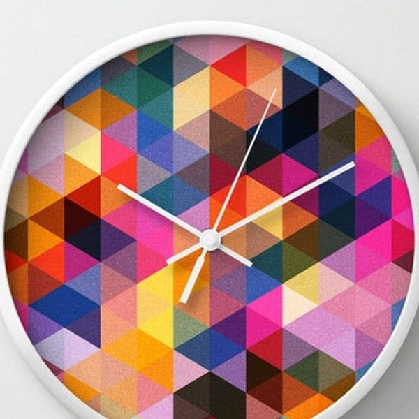 Art That Tells Time? Just Like That, Society6 Launches Wall Clocks