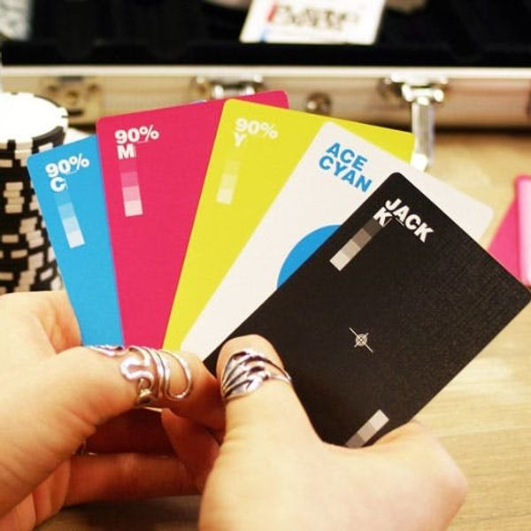 Made Us Look: Beautiful CMYK Playing Cards