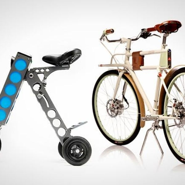 Who Needs Cars When You've Got Fold-Up Scooters & Electric Bikes?