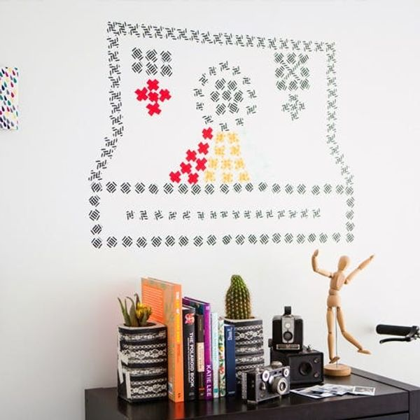 "How to Create Washi ""Cross Stitch"" Wall Art"