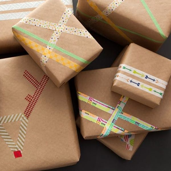 Last Minute Gift Wrap Alert! DIY Washi Tape Wrapping Paper