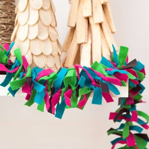 DIY Basics: Knotted Felt and Leather Garland