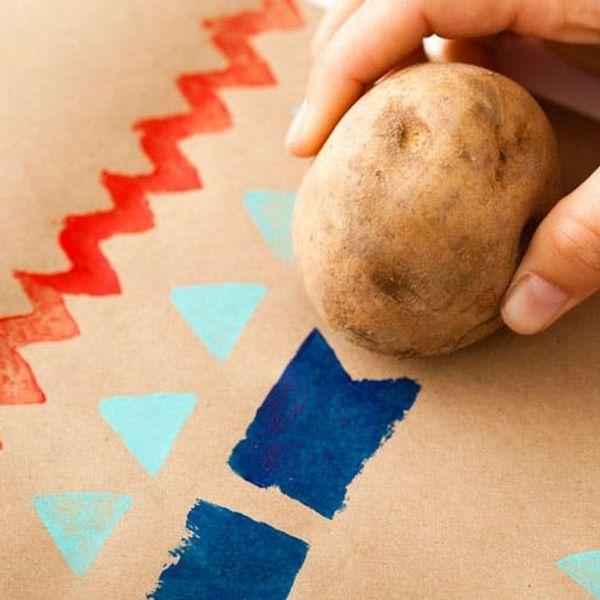 DIY Gift Wrap 101: Bringing Back the Potato Stamp