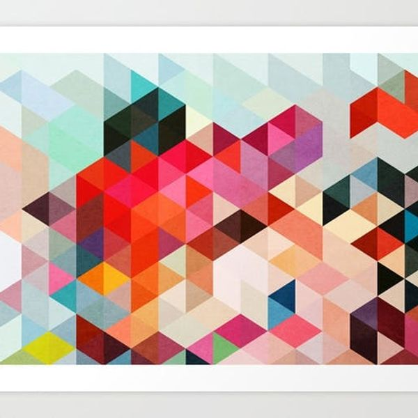 12 Colorful Patterned Art Prints