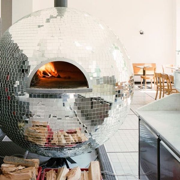 Made Us Look: The Completely Unbelievable Disco Ball Pizza Oven