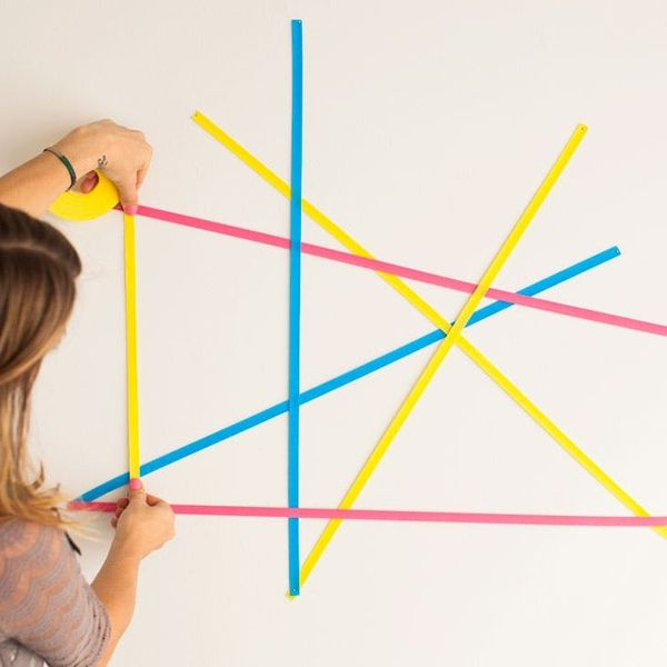 Geometric Wall Art That Doubles as a Memo Board