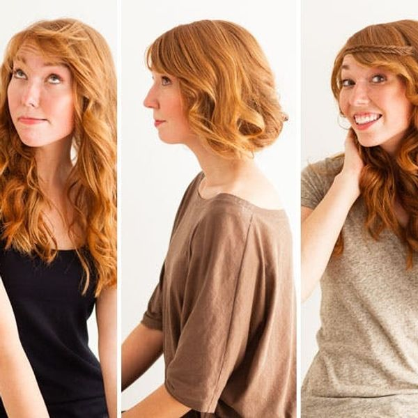3 Genius Hair Tricks: The Faux Bob, Disappearing Bangs, and Fishtail Headband