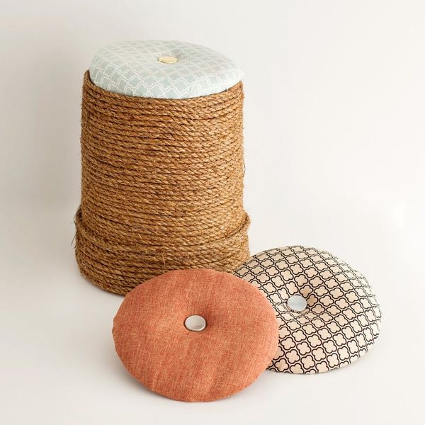 How to Turn a Bucket into a Chic Mini Ottoman