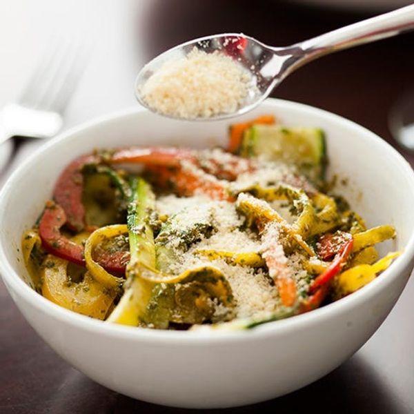 No-Cook Veggie Pasta (Gluten Free!)