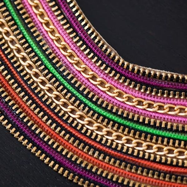 Introducing the Zipper Statement Necklace