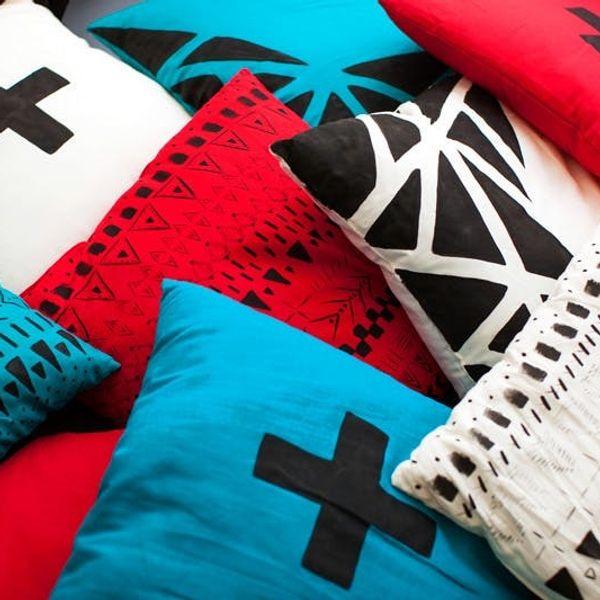 DIY Basics: Geometric Painted Throw Pillows