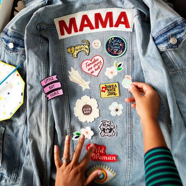 DIY Matching Mama + Babe Denim Jackets in 20 Minutes Using Nothing But Patches
